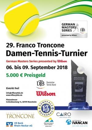 29. Franco Troncone Damen-Tennis-Turnier 2018