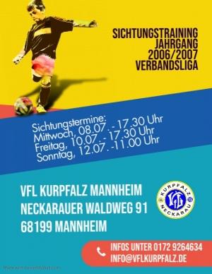 Sichtungstraining 2006/2007 Verbandsliga